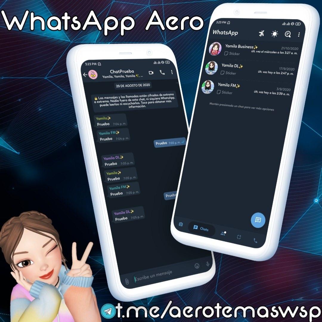 Aero ✨ StyleFM Telegram Dark ByYamila 💜   WhatsApp Aero Official ...